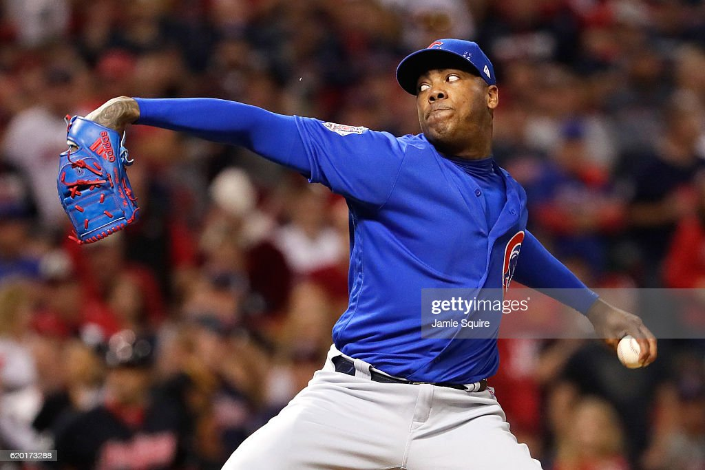 World Series - Chicago Cubs v Cleveland Indians - Game Six : News Photo