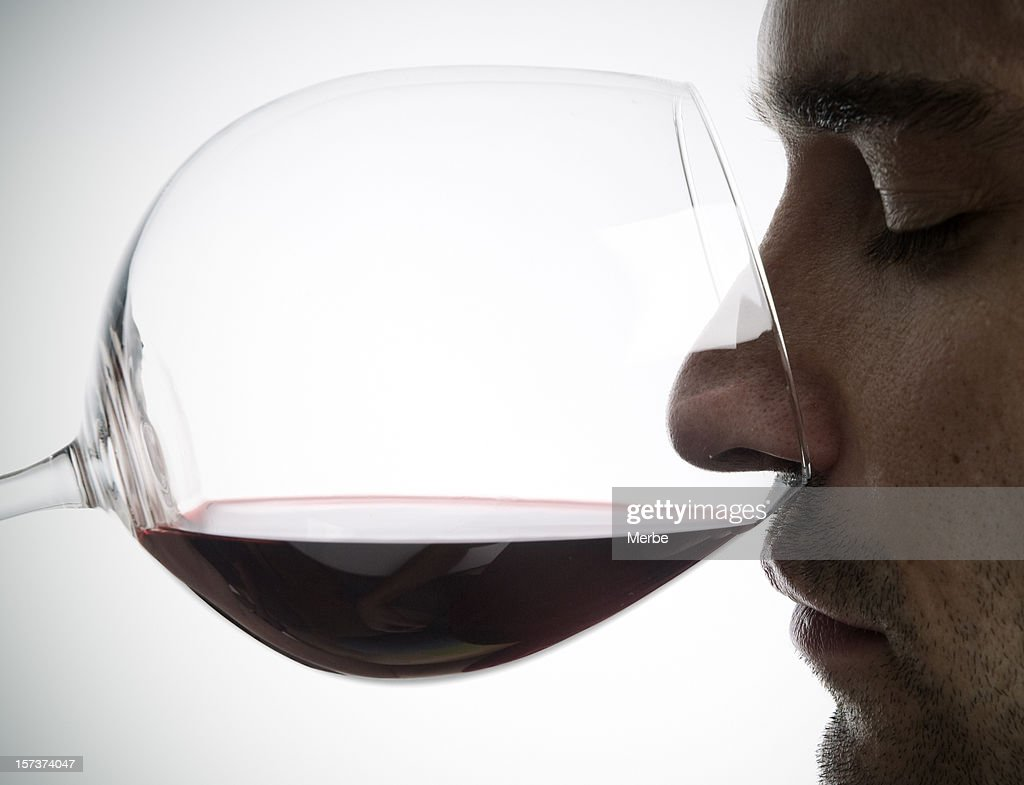 aroma in wine : Stock Photo