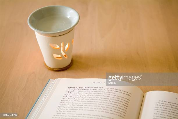Aromatherapy burner and book