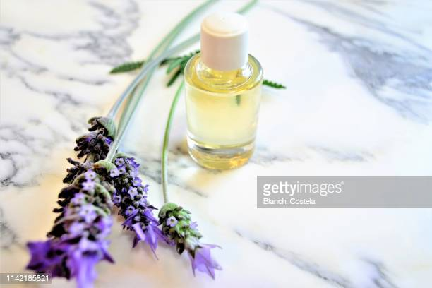 Aromatic oils on marble background