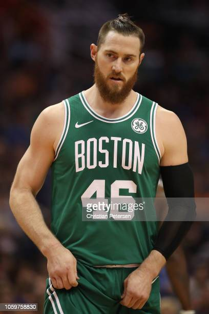 Aron Baynes of the Boston Celtics during the NBA game against the Phoenix Suns at Talking Stick Resort Arena on November 8 2018 in Phoenix Arizona...