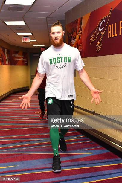 Aron Baynes of the Boston Celtics poses for a photo before the game against the Cleveland Cavaliers on October 17 2017 at Quicken Loans Arena in...