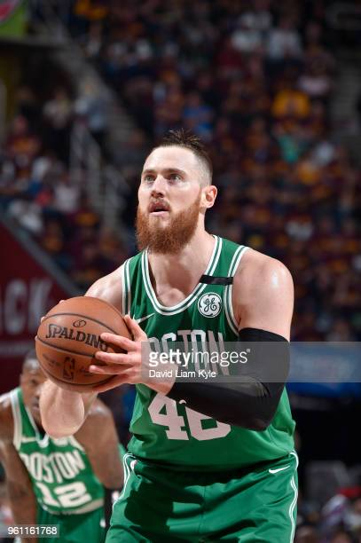 Aron Baynes of the Boston Celtics shoots the ball against the Cleveland Cavaliers during Game Four of the Eastern Conference Finals of the 2018 NBA...