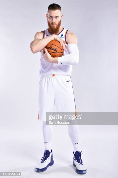 Aron Baynes of the Phoenix Suns poses for a portrait during media day on September 30 2019 at Talking Stick Resort Arena in Phoenix Arizona NOTE TO...