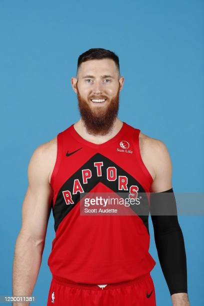 Aron Baynes of the Toronto Raptors poses for a portrait during content day on December 7, 2020 at the Amalie Arena in Tampa, Florida. NOTE TO USER:...