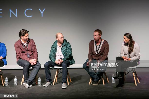 Aron Giannini Max Grossman Alec Shankman and Jade Sherman attend the Catalyst Content Festival on October 12 2019 in Duluth Minnesota