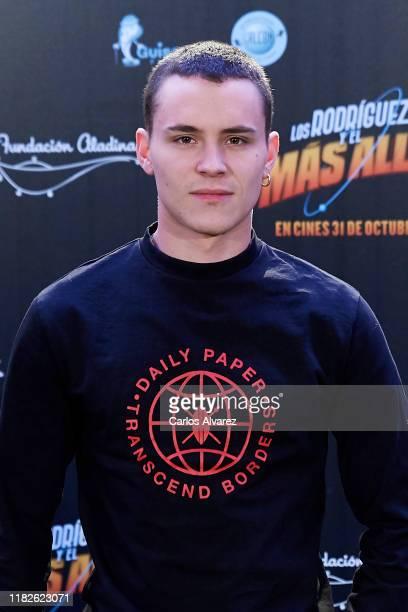 Aron Piper attends Los Rodriguez y el Mas Alla photocall at Telefonica Gran Via store on October 22 2019 in Madrid Spain