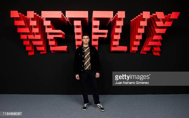 Aron Piper attends the red carpet during the Netflix presentation party at the Invernadero del Palacio de Cristal de la Arganzuela on April 4 2019 in...