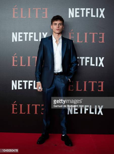 Aron Piper attends the World Premiere of Netflixs 'Elite' at Nubel on October 2 2018 in Madrid Spai