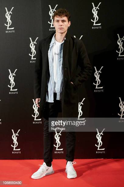 Aron Piper attends the YVES SAINT LAURENT THE SLIM Rouge PurCouture party photocall at Santona Palace in Madrid on October 6 2018