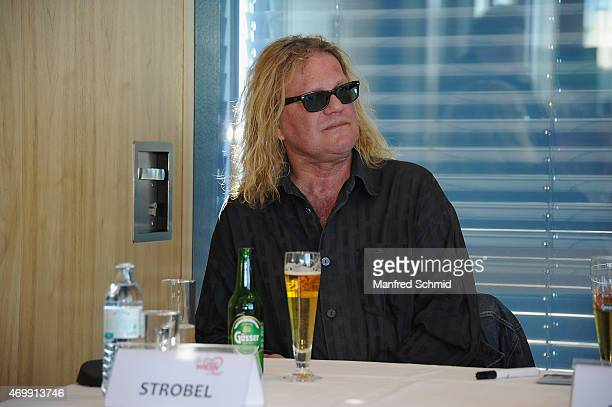Aron Strobel of Muenchener Freiheit attends the Vienna Wiesn 2015 press conference on April 16, 2015 in Vienna, Austria.