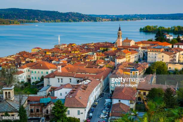 arona, lake maggiore, verbano-cusio ossola province, piedmont, italy. - province of verbano cusio ossola stock pictures, royalty-free photos & images