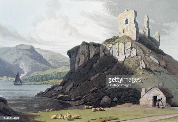 Aros Castle Isle of Mull Scotland 1818 Handcoloured engraving from A Voyage Around Great Britain Undertaken between the Years 1814 and 1825 by...
