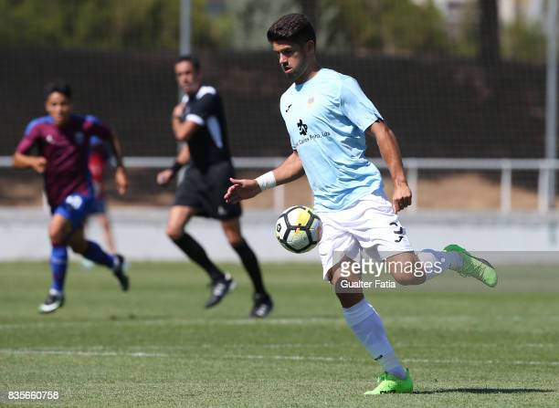 Arouca defender Hugo Basto from Portugal in action during the Segunda Liga match between CD Cova da Piedade and FC Arouca at Estadio Municipal Jose...