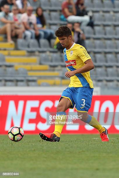 Arouca's defender Hugo Basto during the match between Arouca v Heracles match for UEFA Europa League Qualifications Semi-Finals 2nd Leg at Arouca...