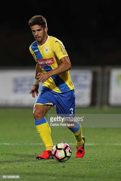 Arouca's defender Hugo Basto during the match between Arouca v Olympiakos match for UEFA Europa League Qualifications Finals Frist Leg at Arouca...