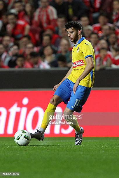 Arouca«s forward Ivo Rodrigues during the match between SL Benfica and FC Arouca at Estadio da Luz on January 23 2016 in Lisbon Portugal