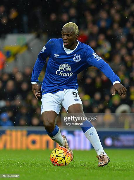 Arouna Kone of Everton during the Barclays Premier League match between Norwich City and Everton at Carrow Road on December 12 2015 in Norwich United...