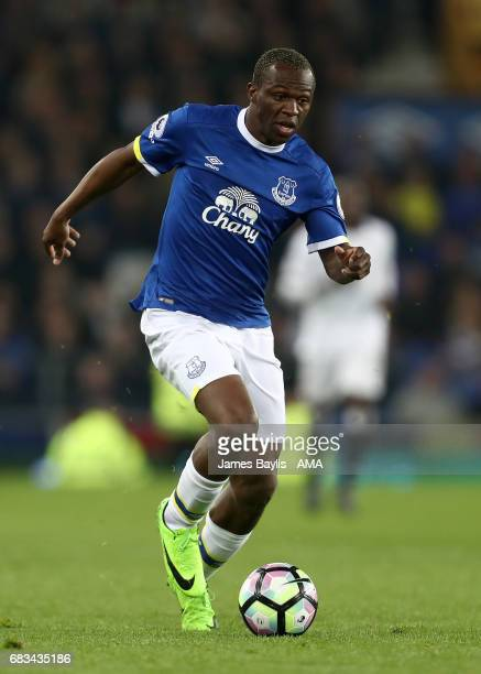 Arouna Kone of Everton during the Premier League match between Everton and Watford at Goodison Park on May 12 2017 in Liverpool England