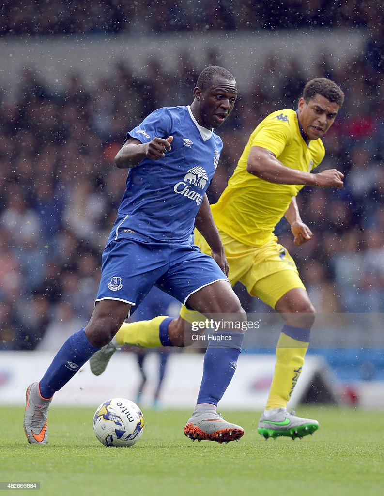 Arouna Kone of Everton in action during the Pre Season Friendly match between Leeds United and Everton at Elland Road on August 1, 2015 in Leeds, England.