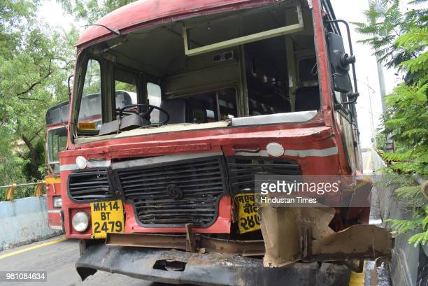 Around 15 passengers were injured on Thursday after a state transport bus crashed into another stationary state transport bus on SATIS Bridge injured...