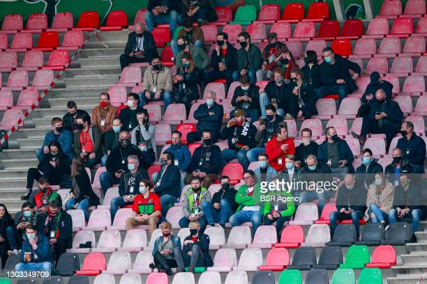 Around 1500 supporters, fans were allowed to attend the match due to a corona research/ trial during the Dutch Keukenkampioendivisie match between...