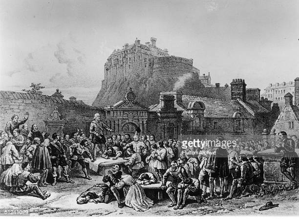1638 Around 300000 Scottish nobles gather to sign the second national covenant in Greyfriar's Churchyard Edinburgh vowing to make Presbyterianism the...