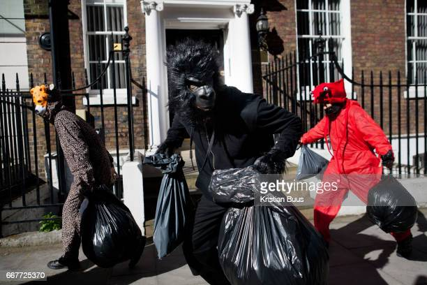 Around 40 activists dressed as animals invaded the PR firm Bell Pottinger in April 10 in central London United Kingdom The activists want to ecxpose...