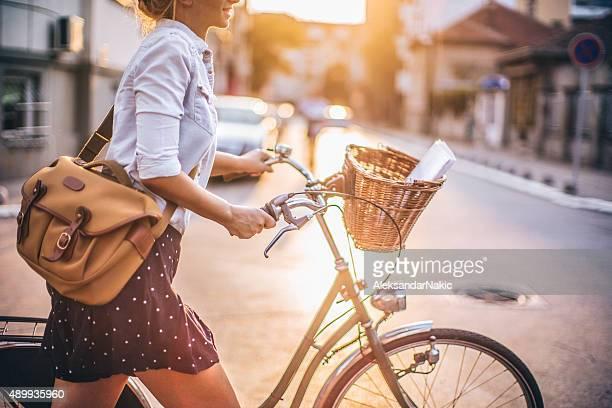 Um die Stadt auf mein Fahrrad