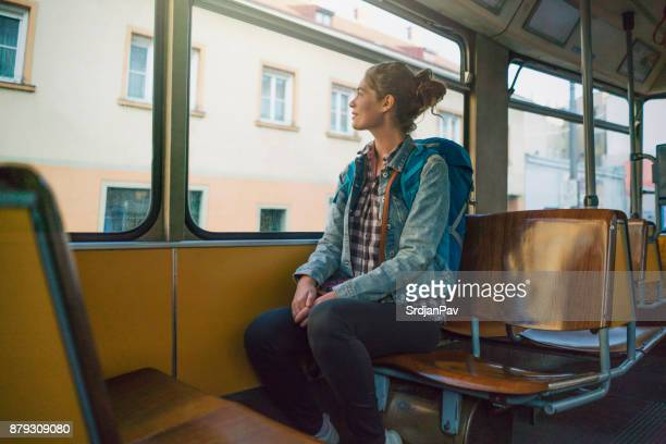 around town by train - vienna austria stock pictures, royalty-free photos & images