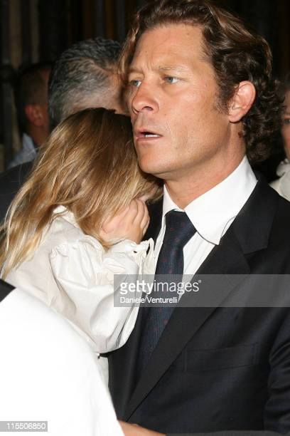 Arpad Busson during Elle Macpherson and Arpad Busson in Rome for the Baptism of their Son Aurelius cy Andrea at Basilica Santa Maria Maggiore in Roma...