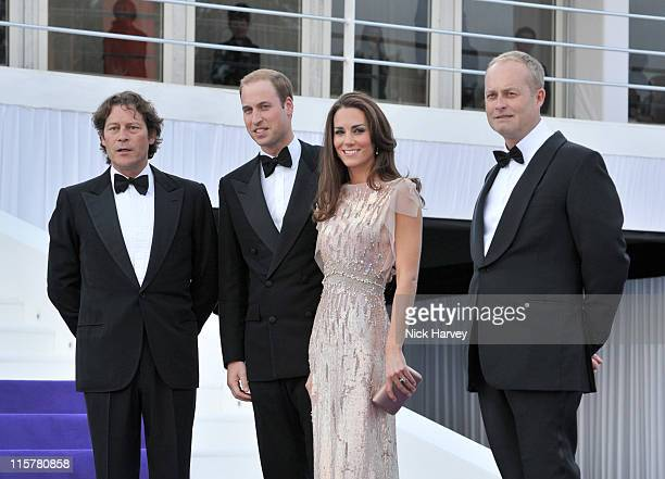 Arpad Busson, Prince William, Duke of Cambridge, Catherine, Duchess of Cambridge and Ian Wace attend the 10th Annual ARK gala dinner at Kensington...