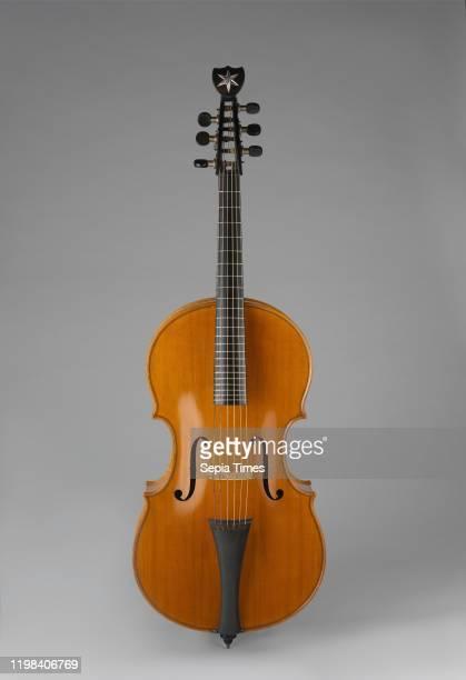 Arpeggione Vienna, Austria, Austrian, Wood, various materials, Total L.: 115.7 cm ; Body L.: 68.2 cm , Chordophone-Lute-bowed-fretted, Johann Georg...