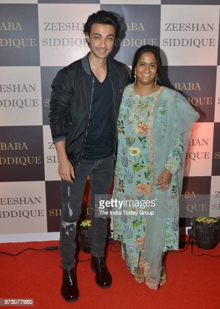 Arpita Khan and Aayush Sharma at Baba Siddiques Iftar party in Mumbai