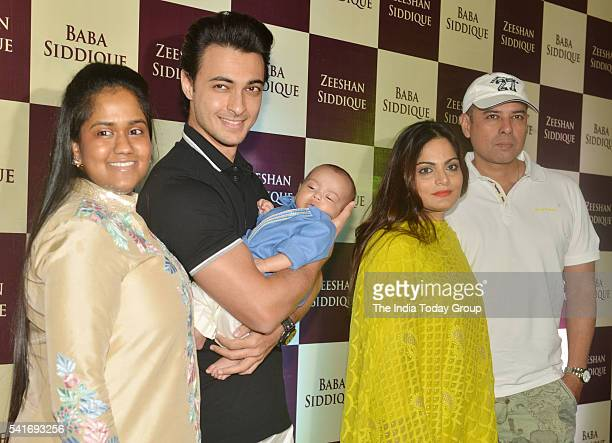 Arpita Khan and Aayush Sharma at Baba Siddiquis Iftar party at Taj Lands End in Mumbai