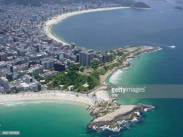 Arpoador & Copacabana from the air