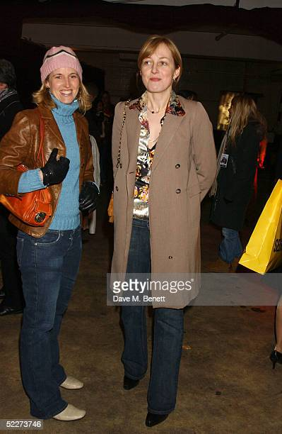 Arrabella Pollen and Rita Koenig attend the Couture Car Boot Sale Gala Preview Evening at Selfridges car park Oxford Street March 3 2005 in London...