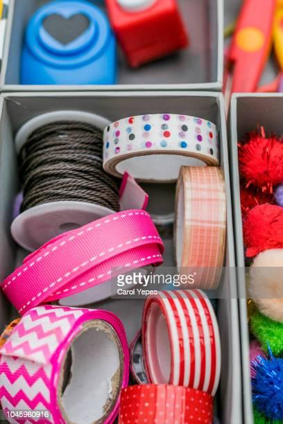 arragement of washi tape