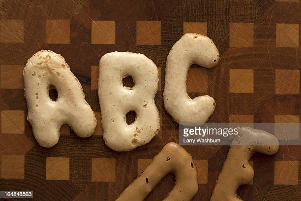 abc de arranged in russian bread cookies - letra b imagens e fotografias de stock