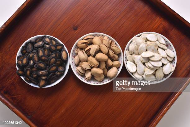 arrangement chinese new year nuts seeds