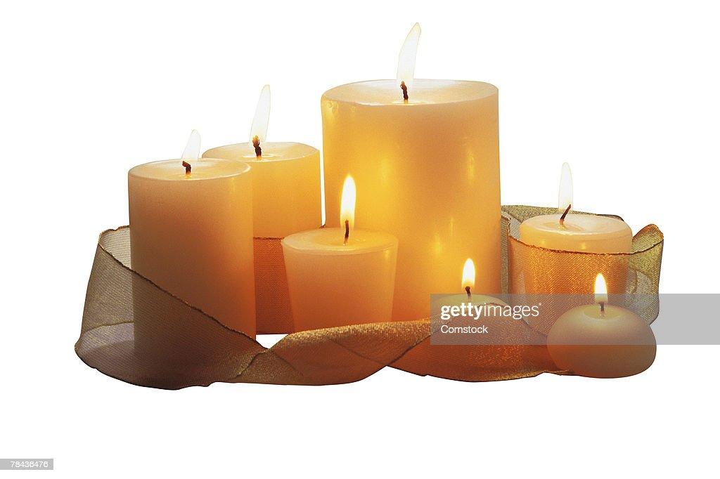 Arrangement of candles : Stockfoto