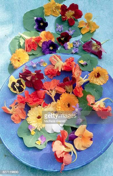 Arrangement of Edible Flowers