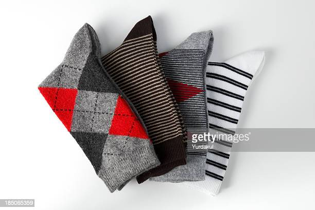 arrangement of folded socks