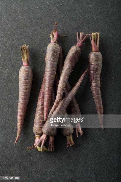 Arrangement of fresh Carrots.