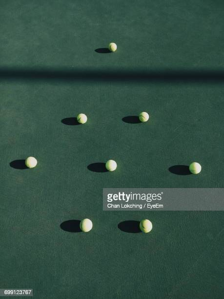 Arrangement Of Tennis Balls