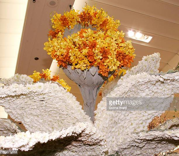 Arrangements on display during the Macy's Flower Show on the main floor at Macy's Herald Square on March 16 2008 in New York City