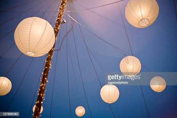 Array of Chinese Paper Lanterns