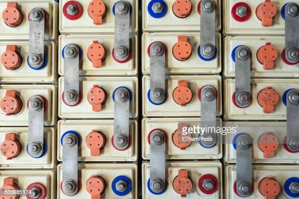 Array of lead batteries