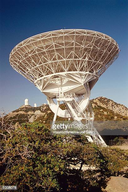 Array/satellite dish facing upright