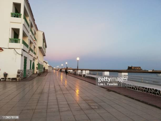 Arrecife street at sunset